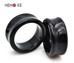 $enCountryForm.capitalKeyWord UK - Punk Acrylic Flesh Tunnel hollow black body Piercing Jewelry ear expander prevent allergic ear expander puncture 6mm 32mm