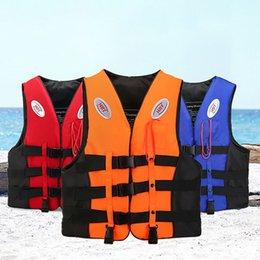 $enCountryForm.capitalKeyWord Australia - Professional Polyester Adult kids Life Vest Jacket Swimming Boating Ski Drifting Life Vest With Whistle Sports Man Jacket