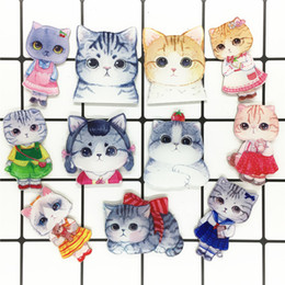 de873776c 1Pcs Cute Animal Dog Cat Cartoon Acrylic Brooch Badge Women Backpack Clothes  Decoration Icon Brooches Pins For Kids Gift