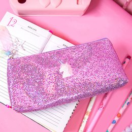 $enCountryForm.capitalKeyWord Australia - Cute Harajuku Sequins Embroidery mini makeup bag Laser bag Student Pencil Case Pouch Cosmetic Pencil Bags