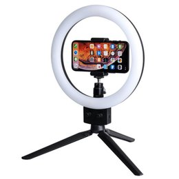 Wholesale LED Ring Light quot with Tripod Stand for YouTube Video and Makeup Mini LED Camera Light with Cell Phone Holder Desktop LED Lamp