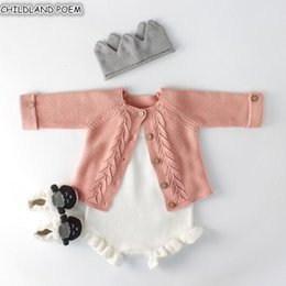 $enCountryForm.capitalKeyWord Australia - Baby Girls Clothes Autumn Baby knitted Romper Set Infant Newborn Baby Girl Cardigan Boys Sweater Cotton kid Jumpsuit For Girls