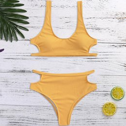 Up Suit Australia - bikini 2019 push up swimsuit solid bikini swimwear padded swimwear swimsuits low waisted bathing suits maillot de bain