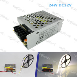 driver 1a NZ - Led Transformer 24W DC24V 1A or DC12V 2A Aluminum Silvery LED Driver Power Adapter For 3528 5050 5730 LED Strip Light DHL
