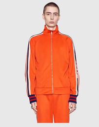 Flannel Hoodie UK - Men's wear designer sportswear, luxury label designer hoodies, autumn and winter orange cotton tops, yellow lapel printed trousers
