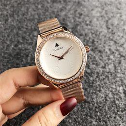 2019 de lujo famoso relojes de las mujeres del Rhinestone de moda de lujo vestido de señoras reloj KOR Dial hombre bolsa de DZ GUESSity pandora Watches0285 en venta