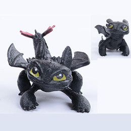 Chinese  Toothless Dragon How to Train Your Dragon 2 PVC Figure Toy New Cartoon Movie Light Fury Black Doll Christmas Gift C3 manufacturers