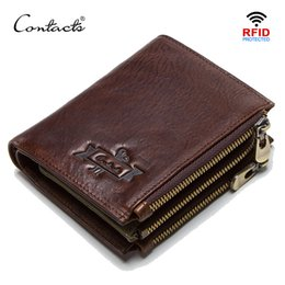 $enCountryForm.capitalKeyWord Australia - CONTACT'S 100% cow leather men's wallet RFID male portmane short cuzdan mens card holders coin purse cartera hombre man's walet
