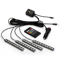 $enCountryForm.capitalKeyWord Australia - RGB Car Atmosphere Lights The Wireless Remote Control LED Colorful Music Rhythm Lamp For Cars Front Back Row Decor Y30