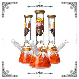 game thrones glasses 2019 - Game of Thrones Bong 10 Inches Beaker Bottom Glass Smoking Water Pipes Hand drawn Art Bongs With 14.4mm Bowls Free Shipp