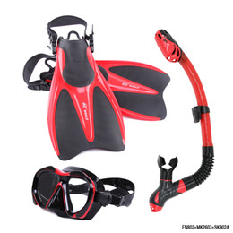 $enCountryForm.capitalKeyWord NZ - Brand Swimming Fins for Adults Adjustable Profession Diving shoes Open heel Diving Fins Flippers Breathing Tube Mask Sets