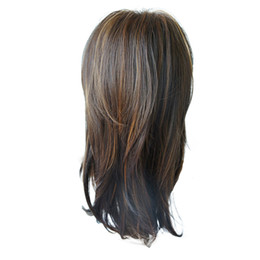 $enCountryForm.capitalKeyWord UK - Factory price 1pc Women Fashion Lady Brown Hair Short Sexy Wavy Synthetic 45cm Fashionable 2019 Novel Cosplay Wigs Stand Mar22