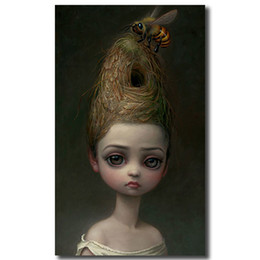 bee decor 2019 - Mark Ryden Childish Strange Dark World Queen Bee Canvas Painting Wall Picture Poster And Print Decorative Home Decor dis
