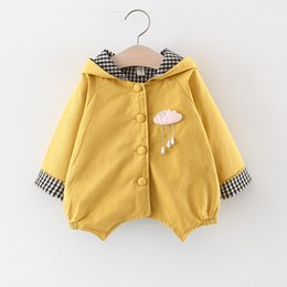 childrens winter outfit Canada - Childrens clothing wholesale female children coat age season infants pure color single-breasted hoodie female baby autumn outfit
