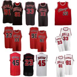 Bulls jerseys online shopping - Retro jersey MJ Bulls Jersey RODMAN PIPPEN basketball Jersey clothes printed