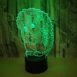 $enCountryForm.capitalKeyWord Australia - Foreign Trade New Pattern Hedgehog 3d Lamp Colorful Touch Remote Control Led Vision Lamp Gift Atmosphere Animal 3d Small Night-light