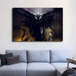 Batman Art Prints Australia - Batman HD Vintage Painting Marvel Superher Movie Posters Canvas Painting Oil Framed Wall Art Print Pictures For Living Room Home Decoracion