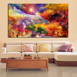 House Art Framing Australia - 1 Piece Abstract House Rock Wall Pictures For Living Room Canvas Art Home Decor Modern No Frame Oil Painting