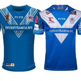 790a3f32905 Top quality 2018 World Cup NRL Jersey samoan rugby shirt 2017 2018 New  Zealand SAMOA rugby Jerseys NRL National Rugby League shirts s-3xl