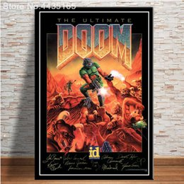 video game decor Australia - The Ultimate Doom Game Poster Halo Video Games Wall Art Picture Canvas Painting for Living Room Home Decor Posters and Prints