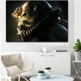 Framed Christmas Paintings Australia - Fallout 76 Game Canvas Painting Living Room Home Christmas Decoroation Modern Wall Art Painting Poster Picture For Living Room Accessories