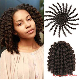 "$enCountryForm.capitalKeyWord Australia - 3Pcs 8"" Ombre Jumpy Wand Curl Synthetic Braiding Hair Extension Kanekalon Jamaican Bounce For Woman Black Brown Crochet Braids"