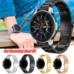 $enCountryForm.capitalKeyWord Australia - For Samsung Gear S3 Stainless Steel Band 4 Colors Adjustable Bracelet Smart Wacth Wrist Strap Classic Butterfly Buckle Replacement Bracelet