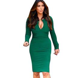 4bd620d3b2b Dolman sleeve cocktail Dress online shopping - New Fashion Europen American  Women V neck Optical Illusion