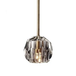 $enCountryForm.capitalKeyWord UK - BOULE DE CRISTAL PENDANT lamp by Cord or Rod Living Dining Room Hotel Hall Bedroom Affordable Luxury Crystal Suspension Light