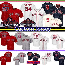0b7e681df5a 50 Mookie Betts Custom Boston Mens Red Sox Jersey 9 Ted Williams 34 David  Ortiz 16 Andrew Benintendi 28 Martinez Bradley Jr. Baseball