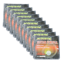 coated guitar strings 2019 - 10Sets Alice Acoustic Guitar Strings Steel Core Coated Copper Alloy Wound 6 Strings Set A207L SL