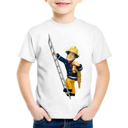 4d39c9107 Children Cartoon Fireman Sam Funny T shirt Kids Short Sleeve Summer Tops  Baby Boys Girls Casual Clothes,HKP2078