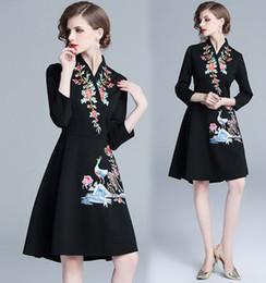 $enCountryForm.capitalKeyWord Australia - New Arrival Hot Sale Special Fashion Fairy Catwalk Female Black National Chinese Style Slim Heavy Work Catwalk Female Embroidered Dress