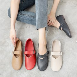 $enCountryForm.capitalKeyWord Australia - women mary jane shoes flats round toe red cute casual soft comfortable ladies female travel walking chic microfiber leather driving footwear