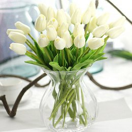 Fake Tulip Flowers Australia - Nienie Tulips Artificial Pu Fake Real Touch Flowers Wedding Home Party Decoration C19041701