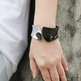 $enCountryForm.capitalKeyWord Australia - MANILAI Mixed Color Alloy Big Cuff Bracelets For Women New Fashion Metal Statement Bangles Bracelets Accessories Jewelry
