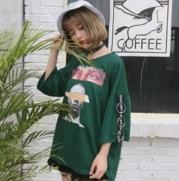 print street style Australia - 2017 Halajuku Summer Oversize Loose Fashion Character Printed All Match Street Style Short Sleeve Female T-shirts C19041001