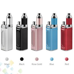 Wholesale Authentic Yocan DeLux Kit mAh Power Bank Battery mAh Mini Box Mod Wax Oil Atomizer In Kits DHL Free