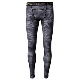 gym apparel UK - Fashion Gray Sports Compression Mens Long Tights Base Layer Pants Leggings Bodybuilding Running Gym Bike Apparel