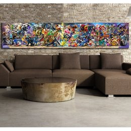 video game decor Australia - Super Smash Bros Video Game Poster Cartoon Pictures Artwork Canvas Paintings Wall Art for Home Decor SH190918