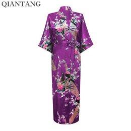d5c624f09c Summer Light Blue Female Faux Silk Robe Chinese Ladies  Sleepwear Kimono Bath  Gown Mujer Pijama Size S M L XL XXL XXXL S0031