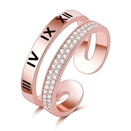 $enCountryForm.capitalKeyWord Australia - High quality wholesale rose gold free size diamond wedding rainbow ring Austria zircon ring Christmas gift for women girls jewelry rings