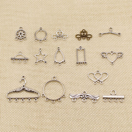small pendants Australia - 50 Pieces Silver Charm Or Pendants Jewelry Making Small Branch Porous Connector HJ256