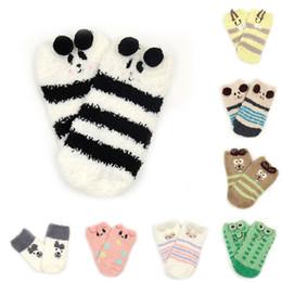 Colorful Infant Socks Australia - Warm Boys Girls Short Sock Colorful Infant Socks Kids Floor Sock Coral Velvet Family Socks Children Clothing Winter Christmas