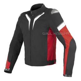 $enCountryForm.capitalKeyWord NZ - Black White Red Textile Dain Aspide Jacket Motorcycle Street Bike Riding Racing Men's jacket with Portection