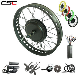 $enCountryForm.capitalKeyWord Australia - 20'' 24'' 26'' x 4.0 wide fat tire electric bike conversion kit Snow Beach e bicycle 48v 1000W Hub Motor Front or Rear Wheel Kit