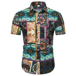 $enCountryForm.capitalKeyWord Australia - Men Hawaiian Short Sleeve Shirt Summer Floral Printed Beach Sea Shirt Mens Clothing Trend Male Casual Flower Shirts Size S-XXL