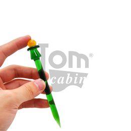 $enCountryForm.capitalKeyWord Australia - Pencil Style Glass Dabber Tool Pen Dabber Tools Oil Wax Dab Tool with Quartz Bong Carb Cap For Pyrex Burner Glass Smoking Water Pipe