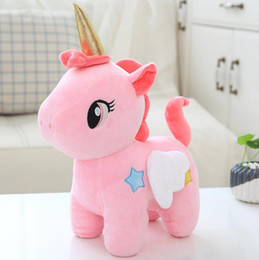 """$enCountryForm.capitalKeyWord NZ - Unicorn Plush Stuffed Animal Toys Dolls with Wings Home Car Party Decorations Gifts for Kids Friends Pink 8"""""""