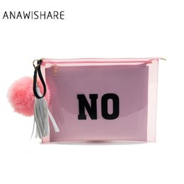 diamante clutches NZ - ANAWISHARE Women Day Clutches Tassel Letter Print Envelope Evening Party Bag Transparent Jelly Bags Handbags Bolsas Feminina #332359